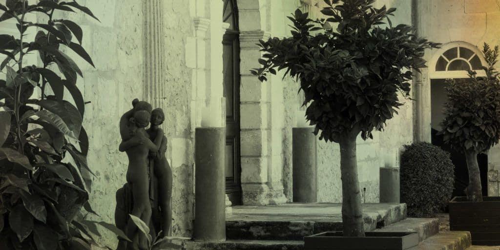 courtyard statue