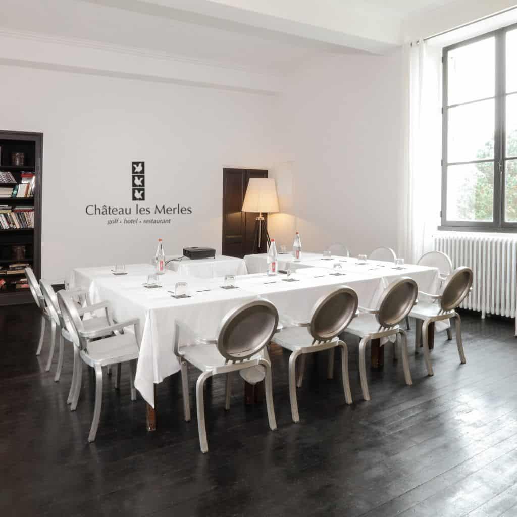 Meeting room salon hotel Chateau les Merles