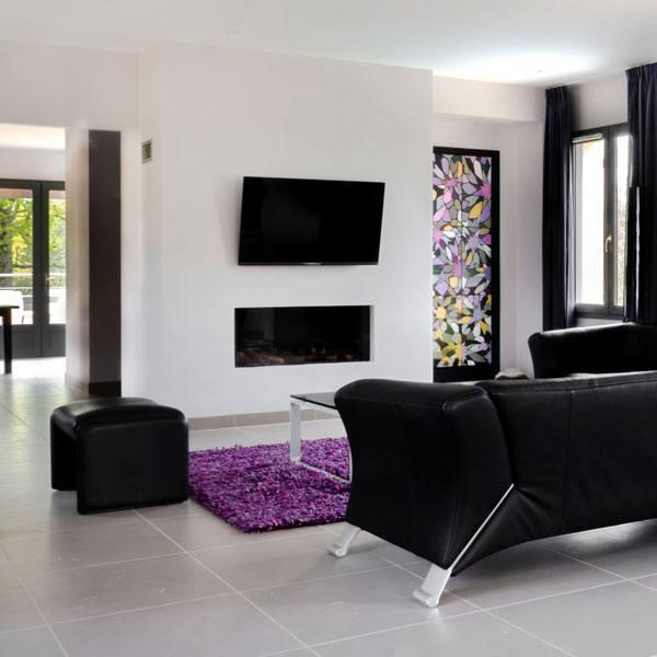 living room villa 8 chateau les merles